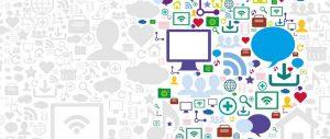 Icone di Social network e blog su Internet